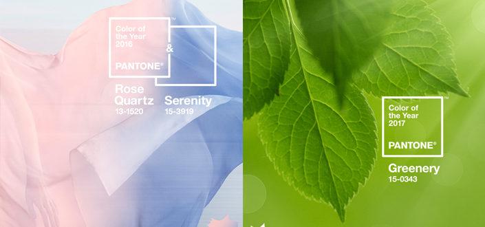 Marsala, Rose Quartz, Greenery, Ultra Violet Pantone